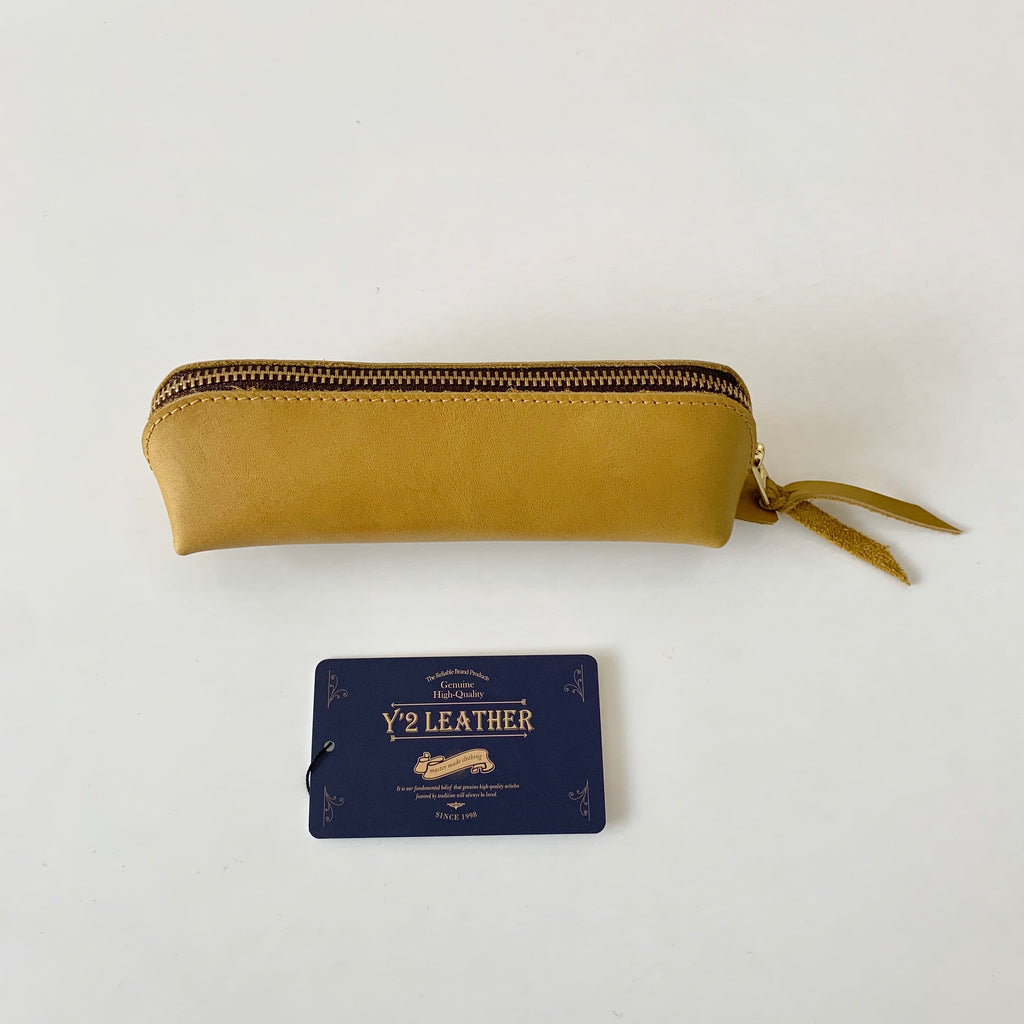 Y'2 Leather - Horse Hide Pen Case in Camel