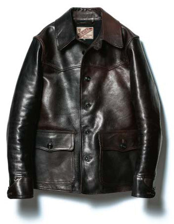 Hand-Dyed Horsehide Car Coat in Black (HNC-82)