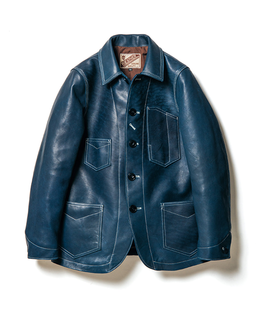 Crafted to Order: Indigo Dyed Horsehide Coverall Jacket (IB-142)