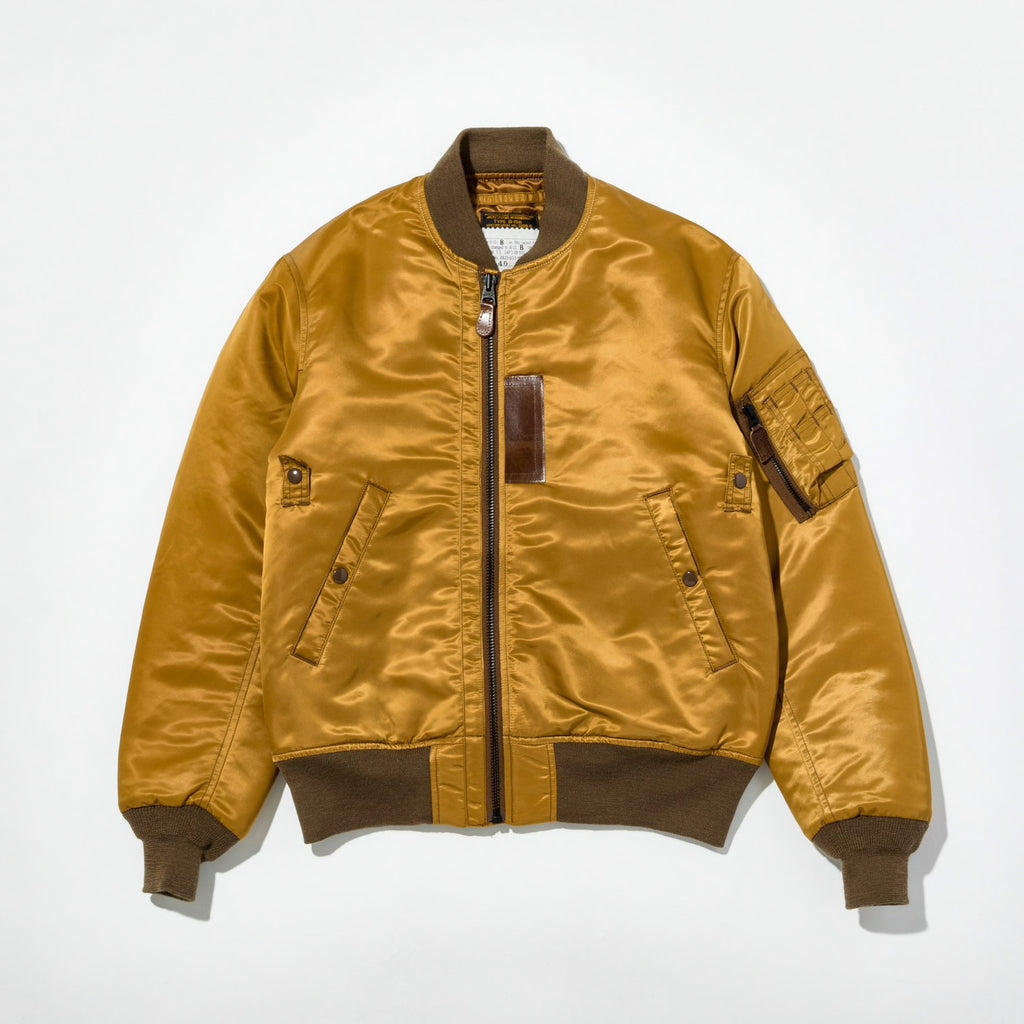 B-15B (MOD) - Thin Down Flight Jacket in Golden Mustard