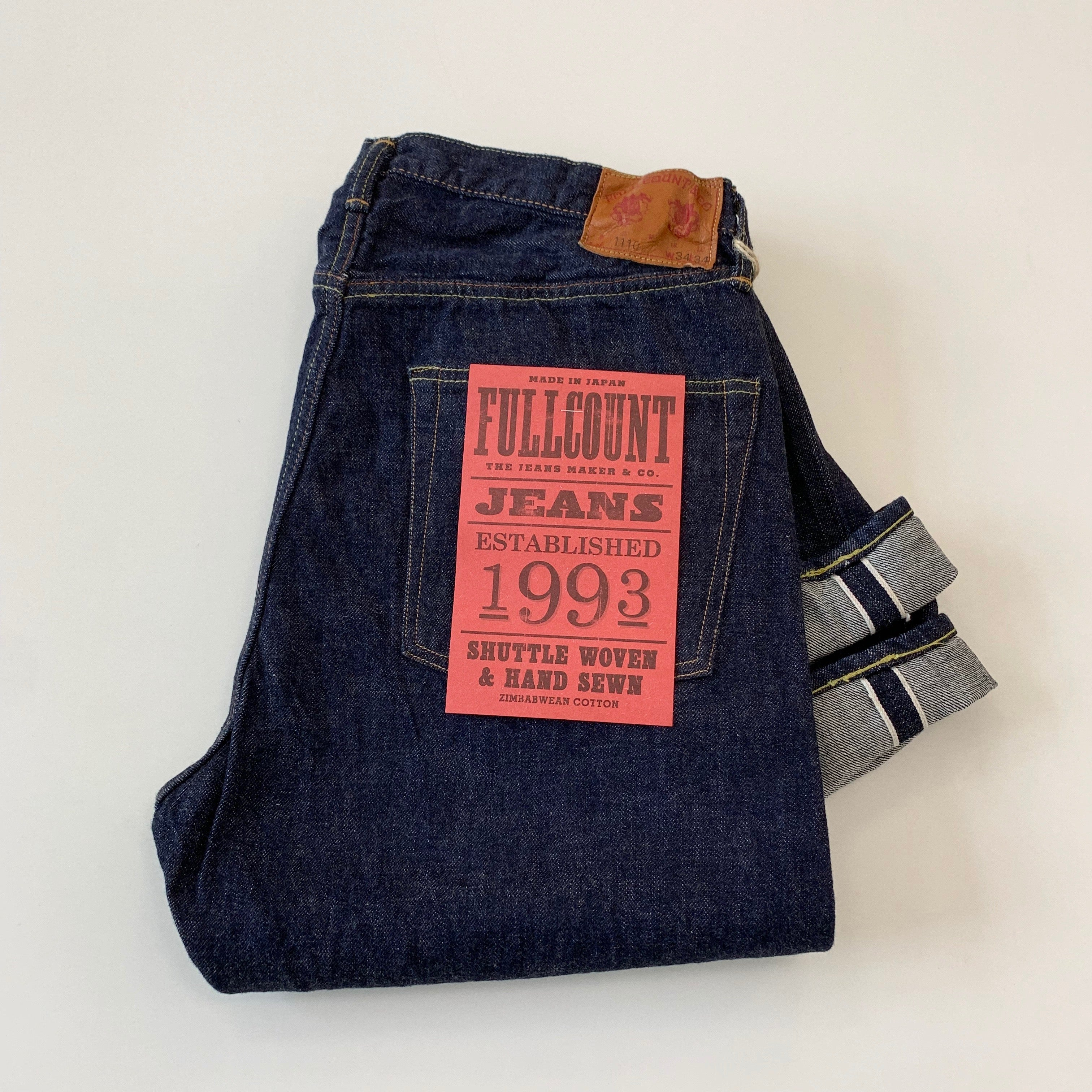 1110W 13.7oz Selvedge Tapered Denim - One Wash