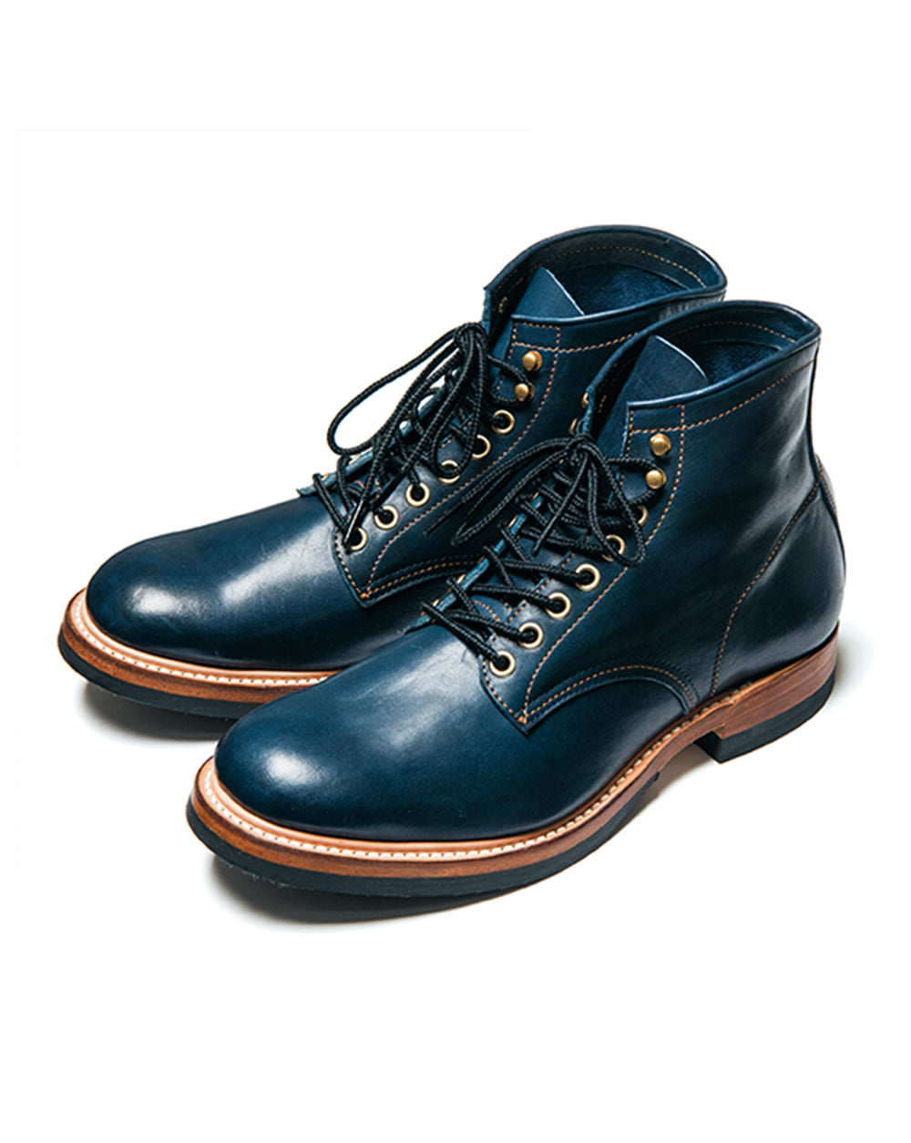 Pre-Order - Indigo Dyed Horse Service Boots (IS-02)