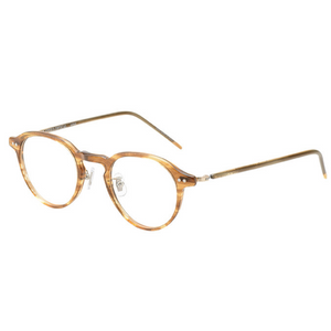 KJ-18 (Clip) in Yellow  Stripes - Biodegradable Cellulose Acetate and Titanium