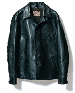 Teacore Aniline Horsehide Shirt Jacket in Black (LS-16)