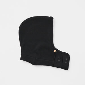 Wool Fleece Hood in Black