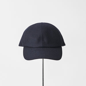 Melton Trainer Cap in Navy