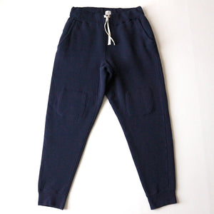 Tompkins Knit Double-Knee Military Sweat Pants in Deep Navy