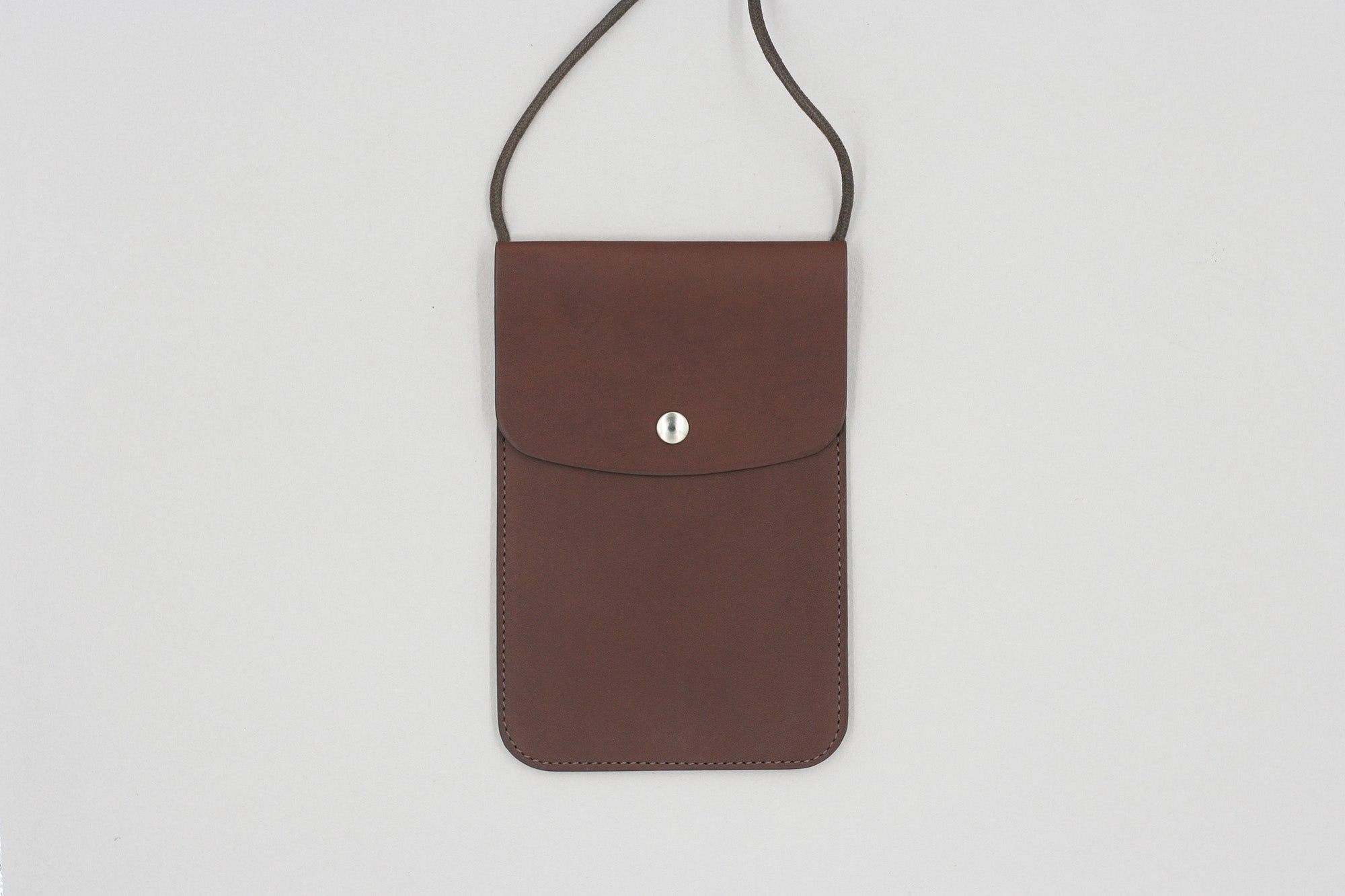 Chocolate Baranil Neck Pouch