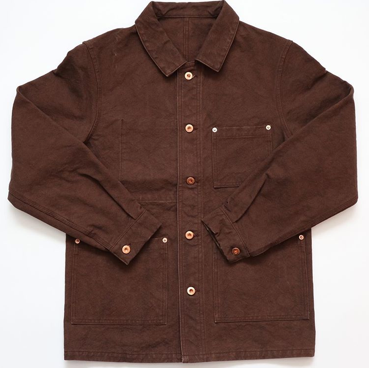 Pre-Order: Okayama Hampu Cotton French Work Jacket in Brown