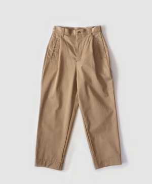 "Cotton Gabardine ""Pilot Slacks"" in Beige"