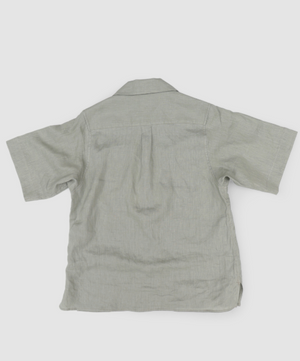 """Sensu"" Linen Shirts in Light Green"