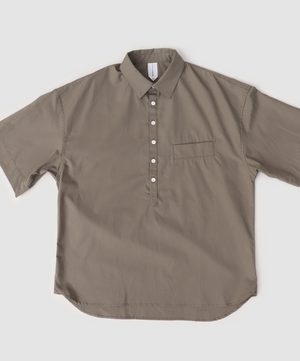 """Shiosaino"" Cotton Shirts in Olive"