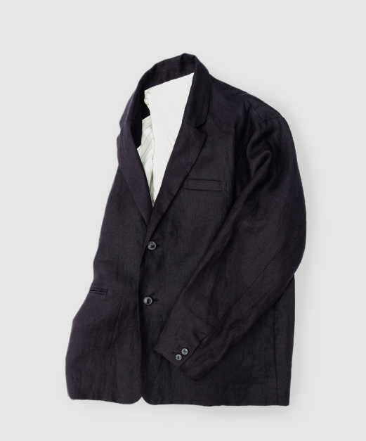 """Tango"" Linen Jacket in Black"