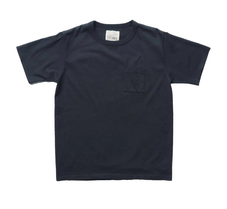 Heavyweight Pocket T-Shirt in Ink-Black