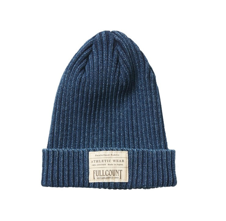 Ribbed Watch Cap in Rope Dyed Indigo