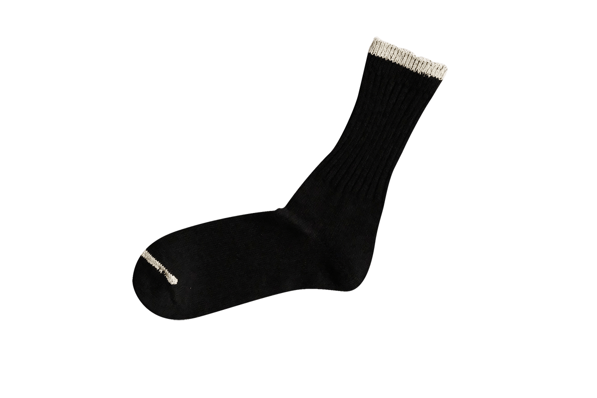 Silk Cotton Socks in Black