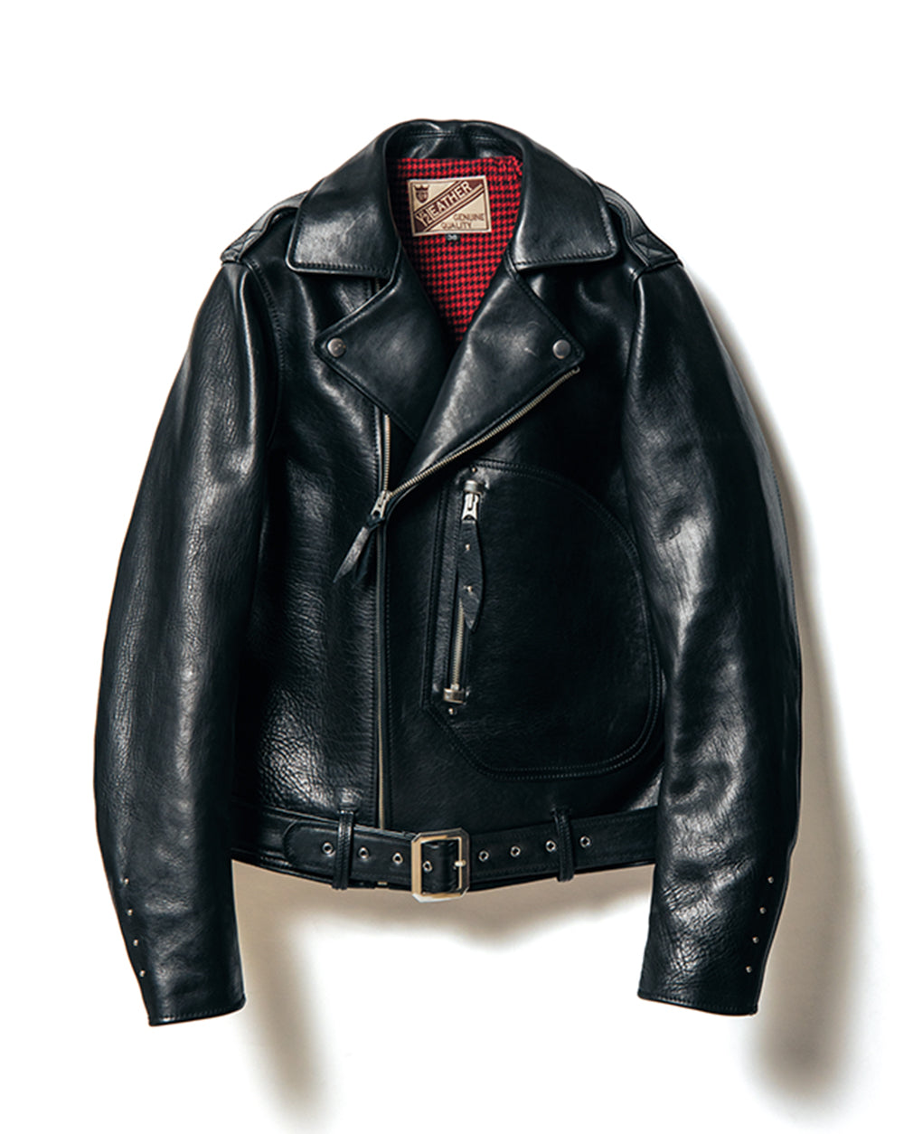 Crafted to Order: Eco Horse 1930's D-Pocket Double Rider Motorcycle Jacket (YS-02)