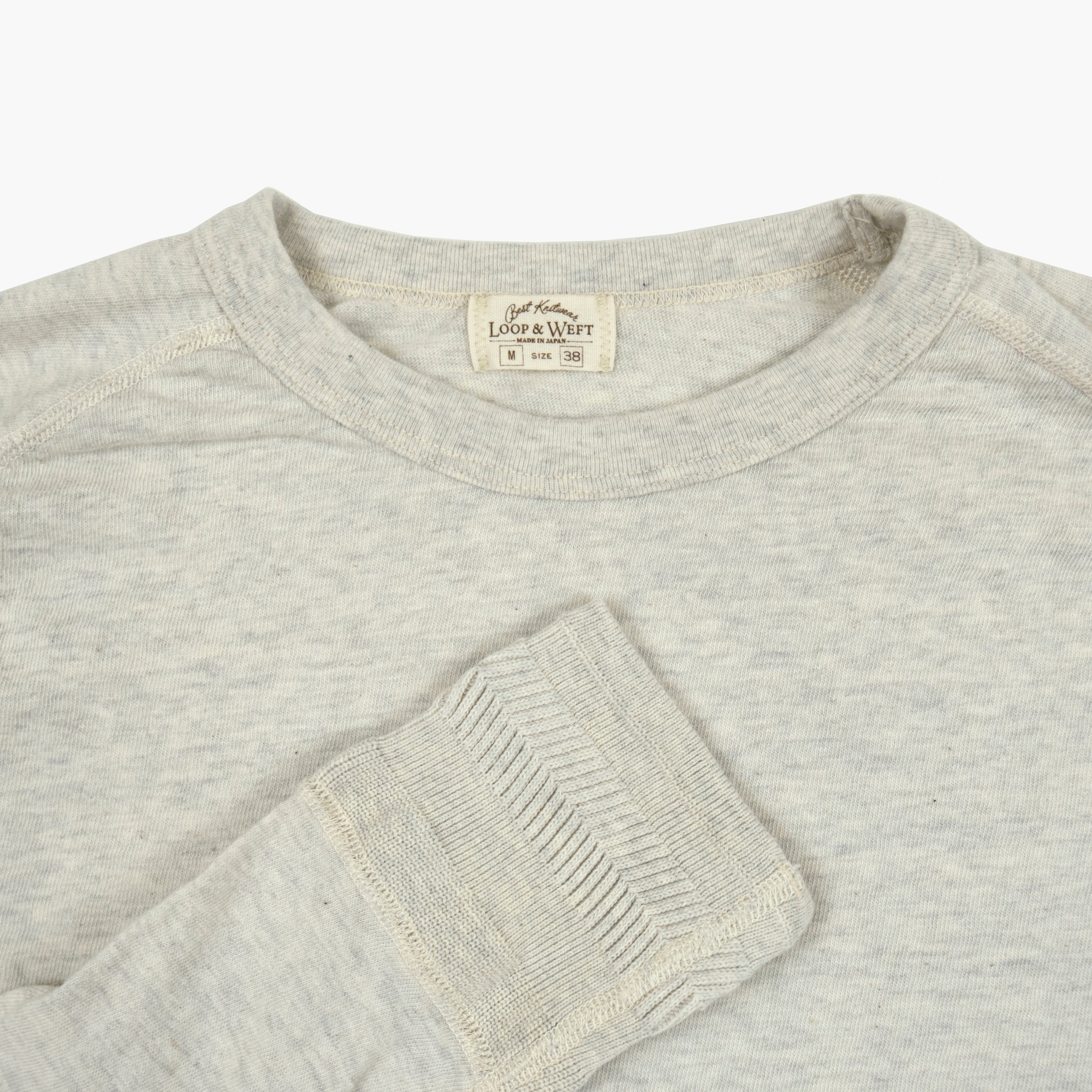 San Joaquin Cotton Raglan Crewneck in Oatmeal