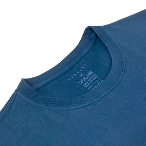 Sukumo Hand-Dyed Natural Indigo Tsuri-Ami Loopwheel T-Shirt II - Light Indigo