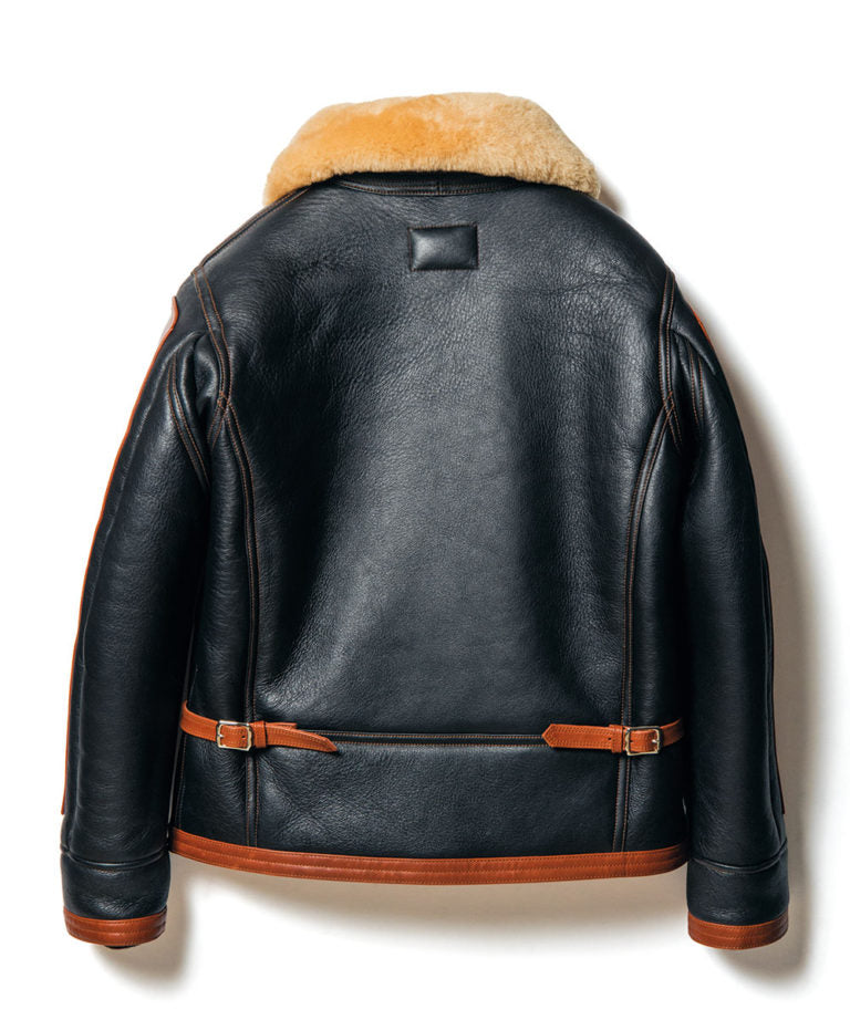 Crafted-to-Order: Colomer Mouton in Black x Brown (Type ANJ-04) Jacket