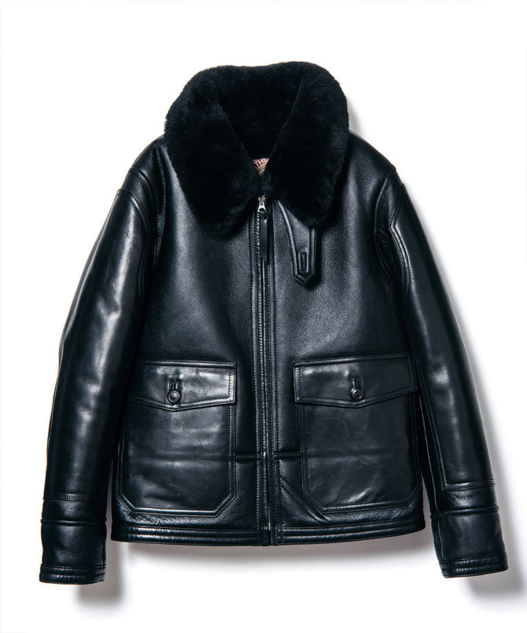 Colomer Mouton in Black (Type ANJ-04) Jacket