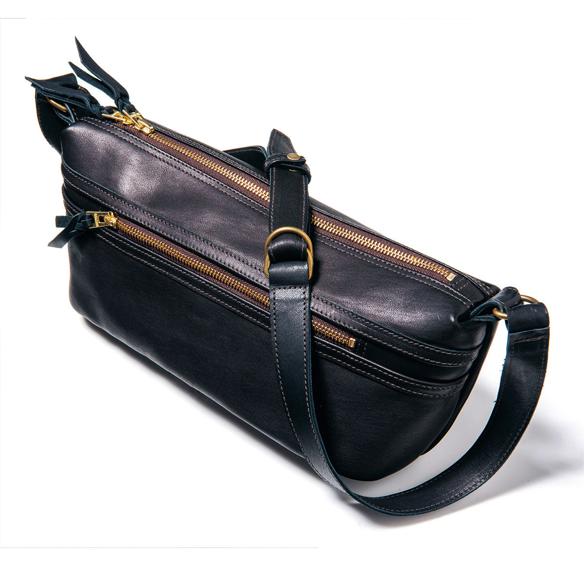 Pre-Order: Horsehide Shoulder Bag in Black Eco Horse (BG-02)