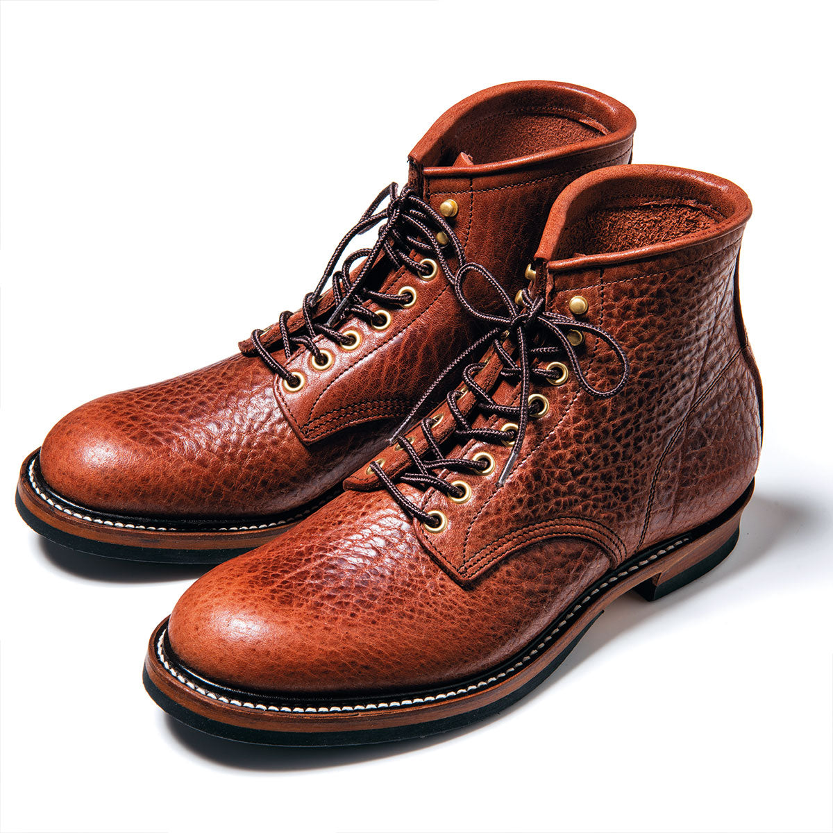Pre-Order: Bull Hide Service Boots in Brown (BS-02)