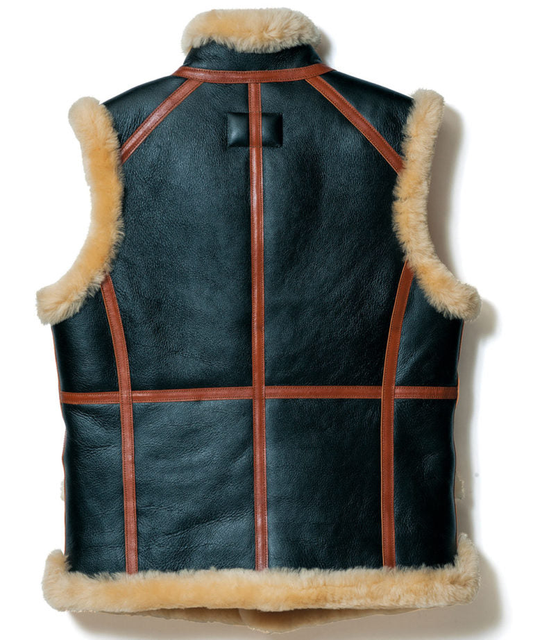 Crafted to Order: Colomer Mouton Vest in Black & Brown (CM-07)