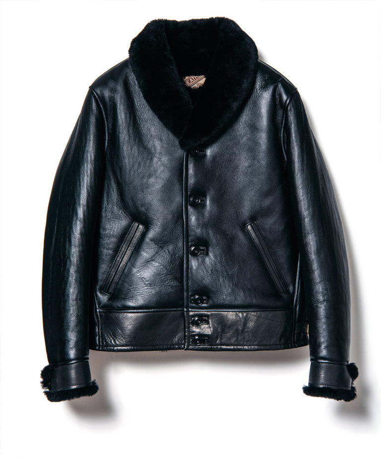 Colomer Mouton Cossack Jacket in Black  (CM-143)