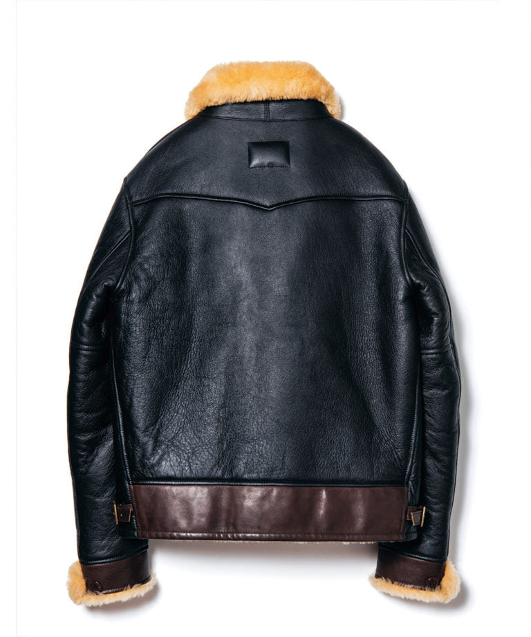 Crafted to Order: Colomer Mouton Cossack Jacket in Black x Dark Brown (CM-143)