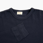 Diamond Mesh Knit Thermal Crewneck in Antique Purple Navy
