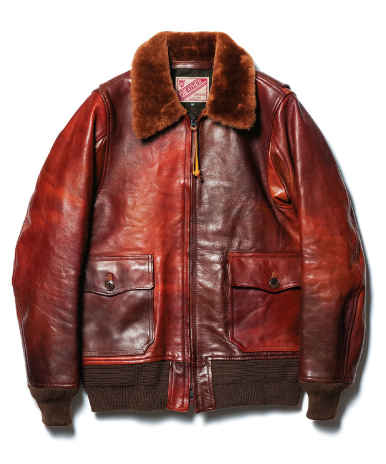 Crafted to Order: Hand Dyed Horse Hide (Type G-1) Jacket in Brown