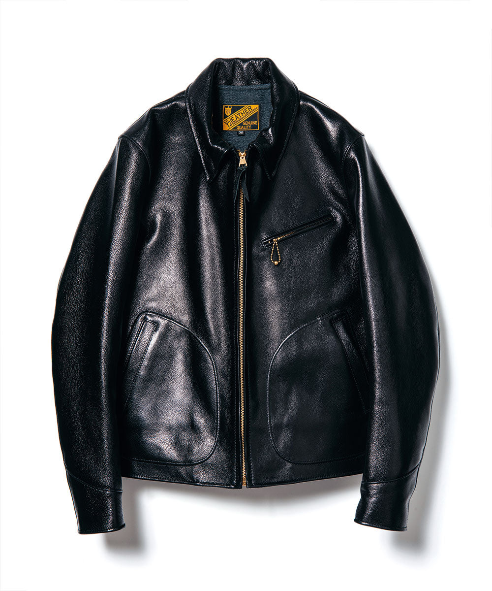 Crafted to Order: Goat Skin Sports Jacket in Kuro Black (GR-45)