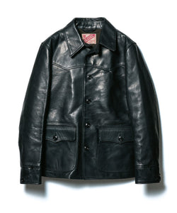HV Horsehide Car Coat in Black (HC-82)