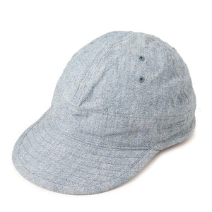 USMC Cap in Light Blue Heather Twisted Chambray