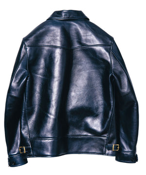 Indigo Dyed Horse Hide Cossack Jacket (IB-143)