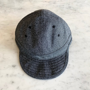USMC Cap in Heather Black Twisted Chambray