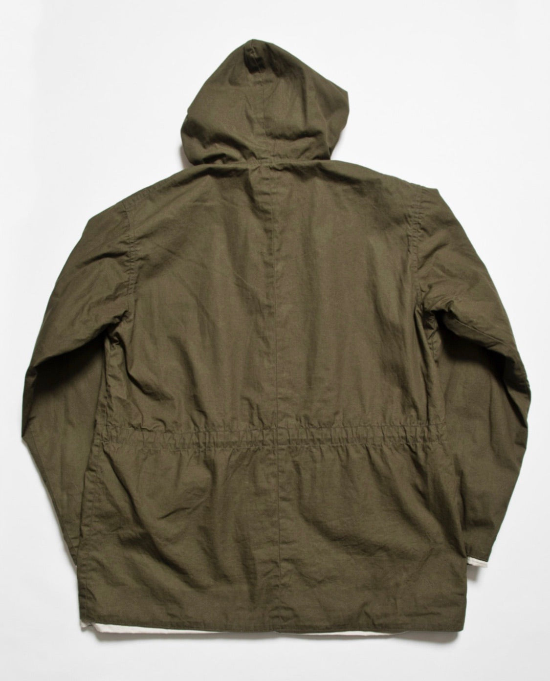 """Brush"" High Density Water-Repellant Cotton Poplin Anorak in Forest Green"