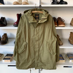 Stand Hood Mods Coat in Olive Drab