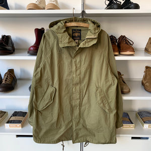 Stand Hood Cotton Mods Coat in Olive Drab