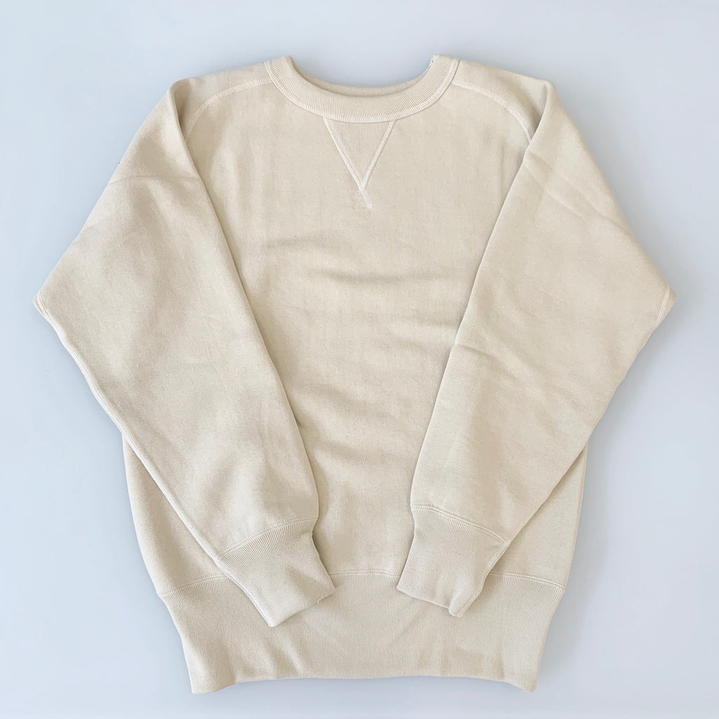 Tsuri-Ami Loopwheel Freedom-Sleeve Sweatshirt in Ivory