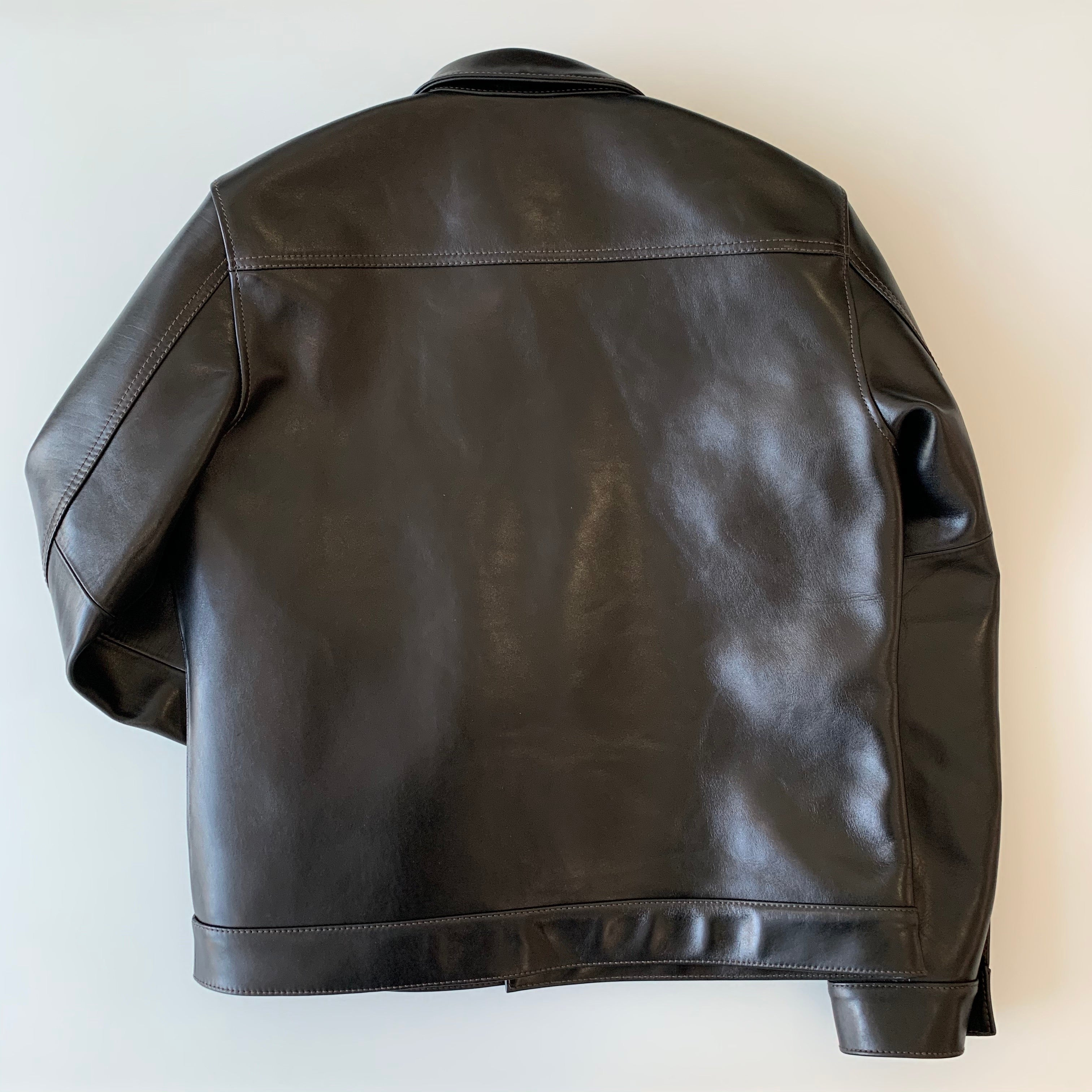 Teacore Aniline Horsehide Type I G Jacket in Black (LB-140)