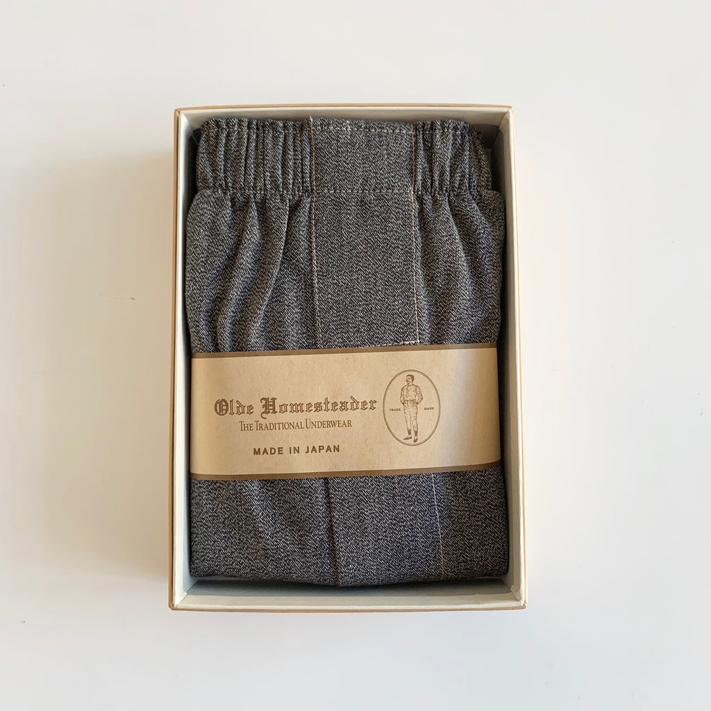 Woven Boxer - Olde Covert Chambray in Black