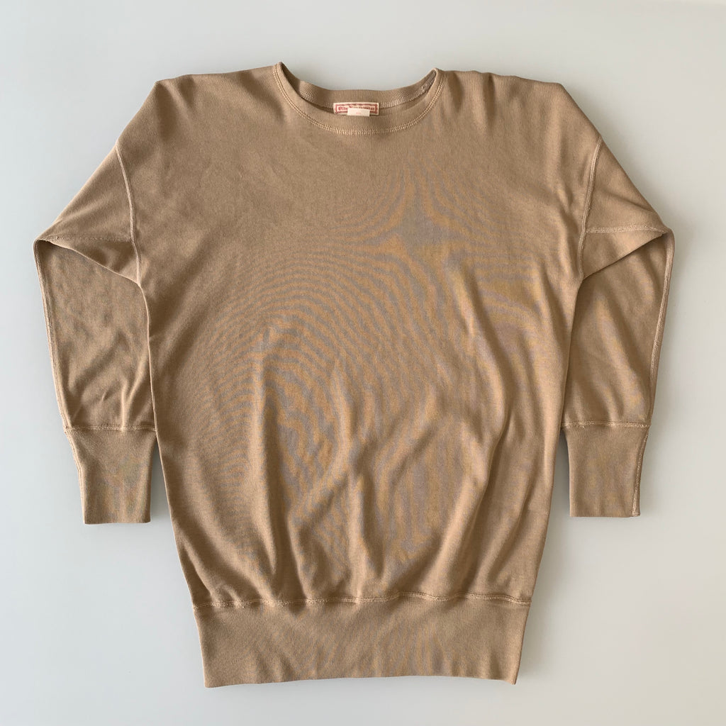 US006 Crew Neck Long Sleeve Sweat Shirt in Khaki