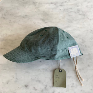 USMC Cap in Heather Green Twisted Chambray