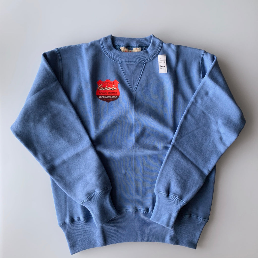 Tsuri-Ami Loopwheel Set-In-Sleeve Sweatshirt in Sax Blue