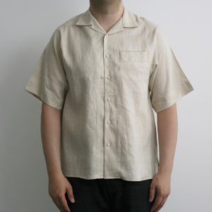 """Sensu"" Linen Shirts in Beige"