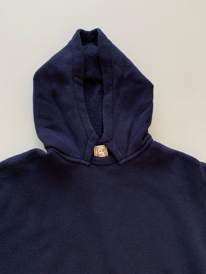 Tompkins Knit 1940's Attached Hood Parka in Deep Navy