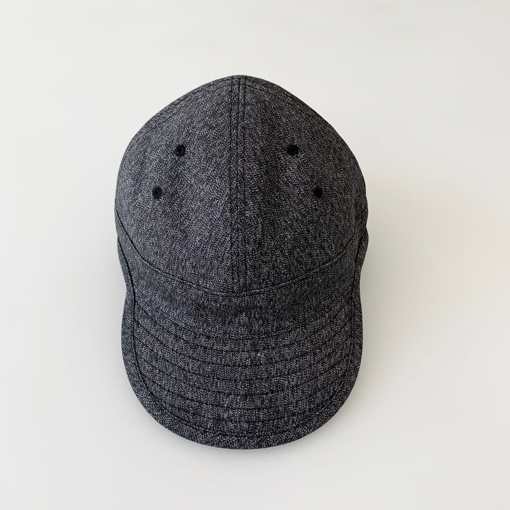 USMC Cap in Heather Black Mock Twist Chambray