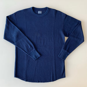 Thermal Long Sleeve - Dark Indigo  - Sukumo Natural Indigo Hand-Dyed